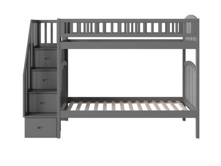 Atlantic Furniture Westbrook AB65609 Bed Gray, AB65609 SILO SK 180