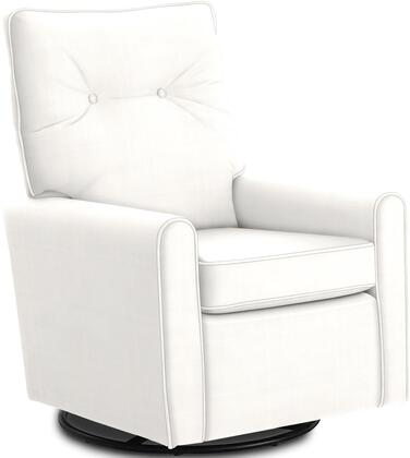 Phylicia Collection 4007-19707 Recliner with 360-Degrees Swivel Glider Metal Base  Removable Back  High Backrest  Zipper Access and Fabric Upholstery