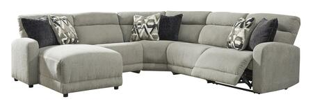 Signature Design by Ashley Colleyville 544057946774662 Sectional Sofa Gray, 54405 79 46 77 46 62 OPEN SW