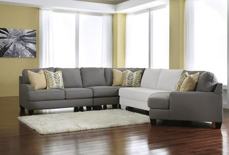 Signature Design by Ashley Chamberly 2430275774655 Sectional Sofa Gray, Main Image