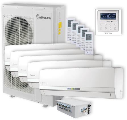 ISFW-6009X5 Flex Series 5-Zone Mini Split System with 52 900 BTU Outdoor Unit  5x 9 000 BTU Wall Mounted Indoor Unit  5x Wireless Remotes and Branch