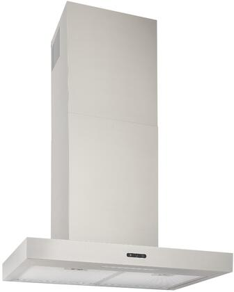 EW4330SS 30″ Chimney Hood with 400 CFM  3 Speed Capacitive Touch  LED Lighting  Aluminum Filter  in Stainless