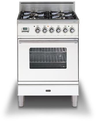 Ilve Professional Plus UPW60DVGGBLP Freestanding Gas Range White, UPW60DVGGBX Professional Plus Range