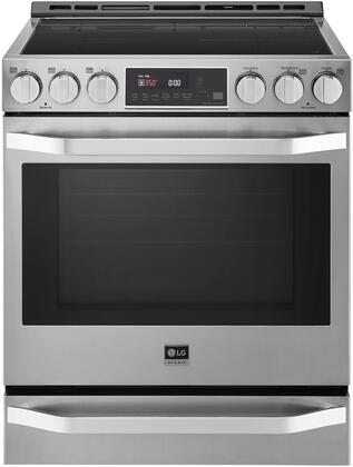 LSIS3018SS 30″ Stainless Steel Smart Induction Slide-In Range with 6.3 cu. ft. Capacity  WiFi Enabled  Probake and