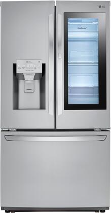 LG LFXS26596S 26 Cu. Ft. Stainless InstaView Door-in-Door French Door Refrigerator
