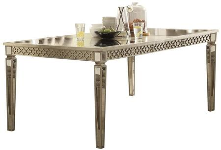 Acme Furniture Kacela 72155 Dining Room Table Gold, Dining Table