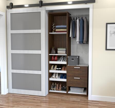Bestar Furniture 8085030 Wardrobe, bestar cielo oak barrel 80850 30 room