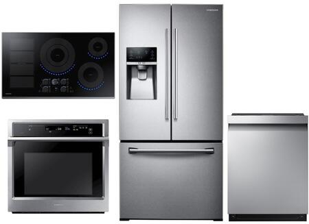 Samsung  1011285 Kitchen Appliance Package Stainless Steel, main image