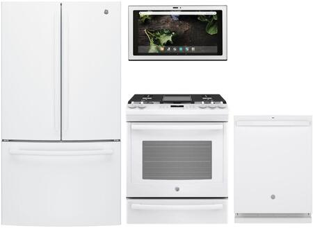 GE 1077823 Kitchen Appliance Package & Bundle White, main image