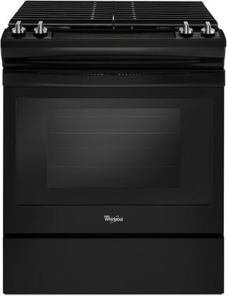 WEG515S0FB 30 ADA Compliant Slide-In Gas Range with 5 cu. ft. Capacity  4 Sealed Burners  Sabbath Mode  and Self Cleaning Oven  in