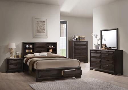 Acme Furniture Merveille 22870QSET Bedroom Set Brown, Bedroom Set