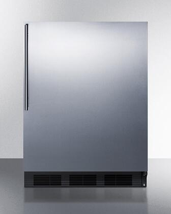 """FF7BKSSHV 24"""" Compact Refrigerator with 5.5 cu. ft. Capacity Commercially Approved Automatic Defrost Interior Light with Rocker Switch"""