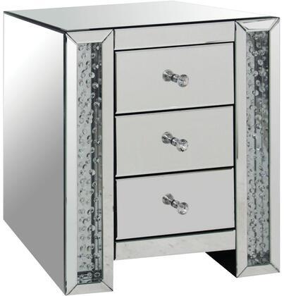 Acme Furniture Nysa 82778 Nightstand Silver, Nightstand
