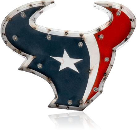 545-1034 Houston Texans  Logo Lighted Recycled Metal
