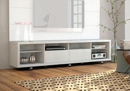 Manhattan Comfort Cabrini 2.2 15384 52 in. and Up TV Stand White, Main Image