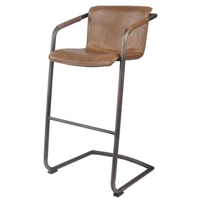 1060003-215 Indy PU Leather Bar Stool Set of 2  in Antique Cigar