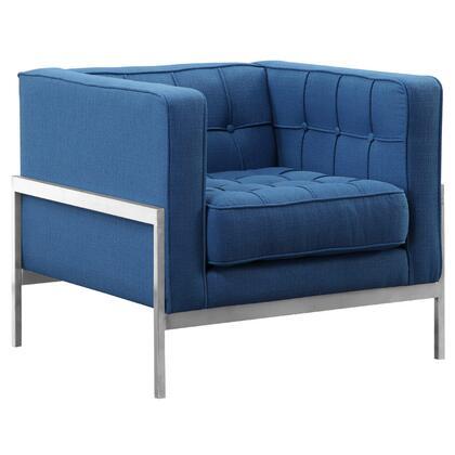 Armen Living Andre LCAN1BLUE Living Room Chair Blue, LCAN1BLUE side