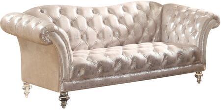 Acme Furniture Dixie 52781 Loveseat Silver, 1