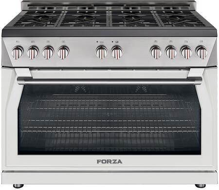 Forza  FA48DKW9010 Color Option , forza cucina 48 inch professional gas range white
