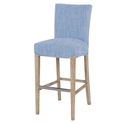 268530-637-N Milton Fabric Bar Stool  in Blue