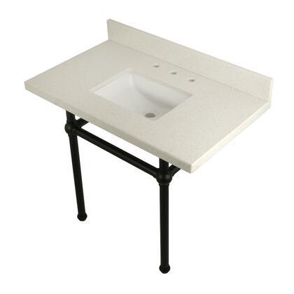 Kingston Brass Templeton KVPB3630WQBSQ0 Sink Vanity White, Main Image
