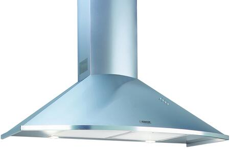 TRC36LED 36″ Trapezoid Curved Wall Mount Range Hood with 600 CFM  LED Lighting  Aluminum Mesh Filters and Push Button Controls in Stainless