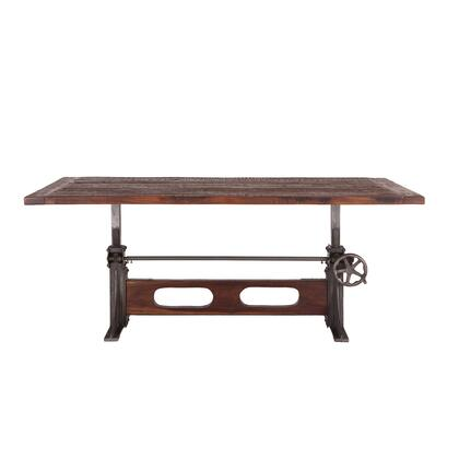 Welles Collection ZWMFDT84 Dining Table in Brown