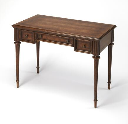 Edmund Collection 3746236 Writing Desk with Traditional Style  Rectangular Shape  Medium Density Fiberboard (MDF) and Cherry Veneer Material in Dark