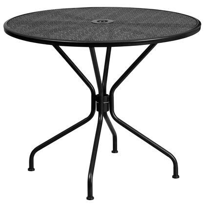 Flash Furniture  CO7BKGG Outdoor Patio Table Black, CO7BKGG front