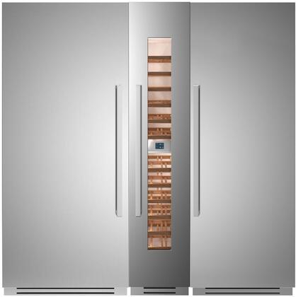 Bertazzoni  1308496 Column Refrigerator & Freezer Set Stainless Steel, 1