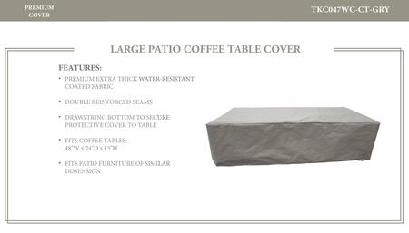 TK Classics Furniture Covers TKC047WC CT GRY
