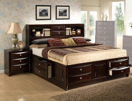 Myco Furniture Oxford OX172QN Bedroom Set Brown, OX172QN Main Image