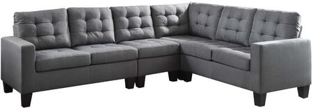 Acme Furniture Earsom 52760 Sectional Sofa Gray, 52760 Front