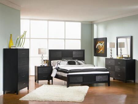 Coaster Grove 201651KW5SET Bedroom Set Black, 5 PC Set
