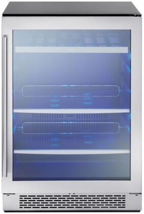 Zephyr PRB24C01AG 24 Inch 5.3 cu. ft. Capacity Freestanding or Built In Beverage Center with Reversible Door in Stainless Steel