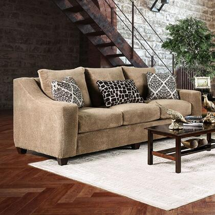 Furniture of America Sullivan SM6132SF Stationary Sofa Brown, Main Image