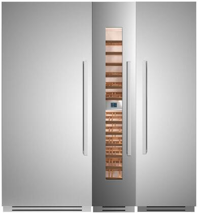 Bertazzoni  1309135 Column Refrigerator & Freezer Set Stainless Steel, 1