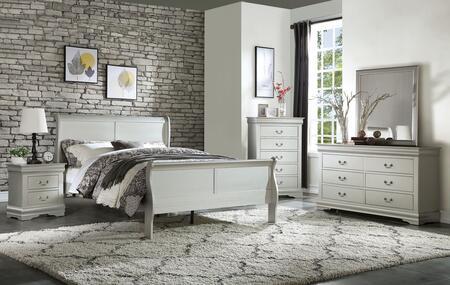 Acme Furniture Louis Philippe 26730QSET Bedroom Set White, Bedroom Set