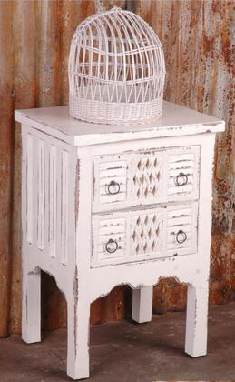 Sunset Trading Shabby Chic Cottage CCTAB098LDWW End Table White, Main Image