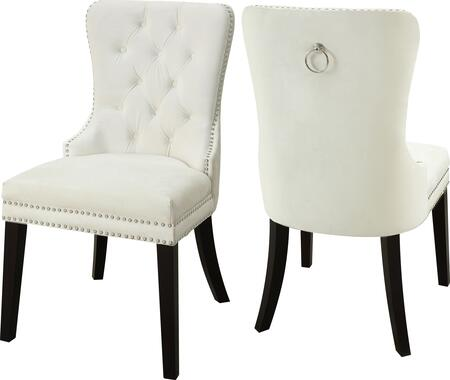 Meridian Nikki 740CreamC Dining Room Chair Cream, Main Image