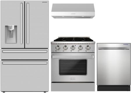 SHARP  148392 Kitchen Appliance Package Stainless Steel, Main Image
