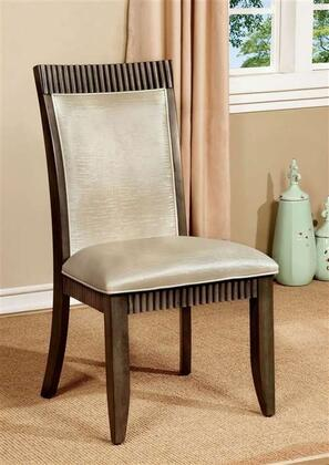 Furniture of America Forbes I CM3435SC2PK Dining Room Chair Gray, Main Image