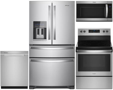 Whirlpool 4 Piece Stainless Steel Kitchen Package With Wrx735sdhz 36 Inch French Door Refrigerator Wfe505w0hz 30 Inch Electric Range Wdta50sahz 24 Inch Fully Integrated Dishwasher And Wmh53521hz 30 Inch Over The Range Microwave Appliances Connection
