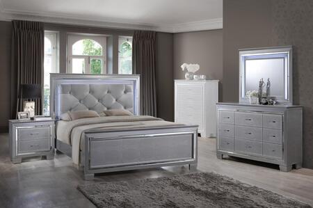 Myco Furniture Martina 4 Piece King Size Bedroom Set