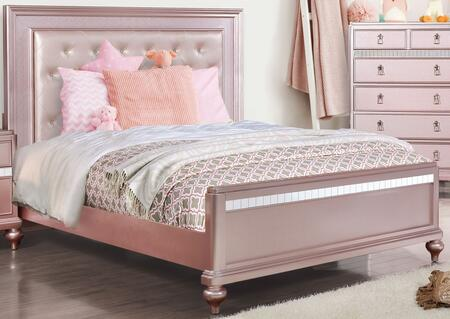 Furniture of America Avior CM7170RGXBED Bed Pink, 1