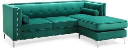 Glory Furniture Capua G0342BSC Sectional Sofa Green, G0342BSC Main Image