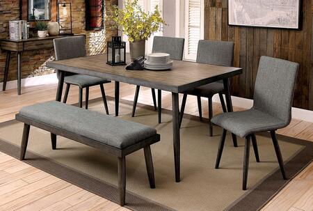 Furniture of America Vilhelm I CM3360T Dining Room Table Gray, main image