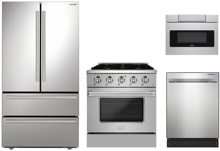Appliances Connection Picks SHARP  1500740 Kitchen Appliance Package Stainless Steel, 1