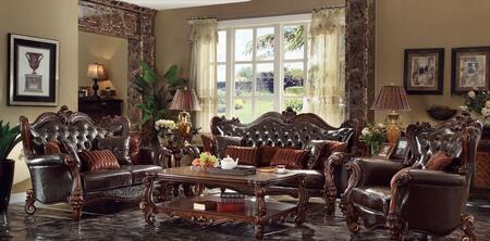 Acme Furniture Versailles 521203PC Living Room Set Brown, 3 PC Set