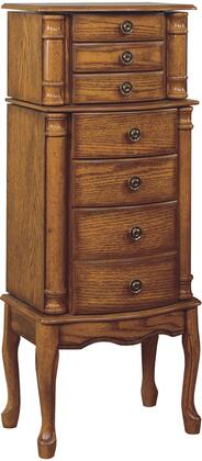 Powell Woodland Oak 604315 Jewelry Armoire Brown, Main Image